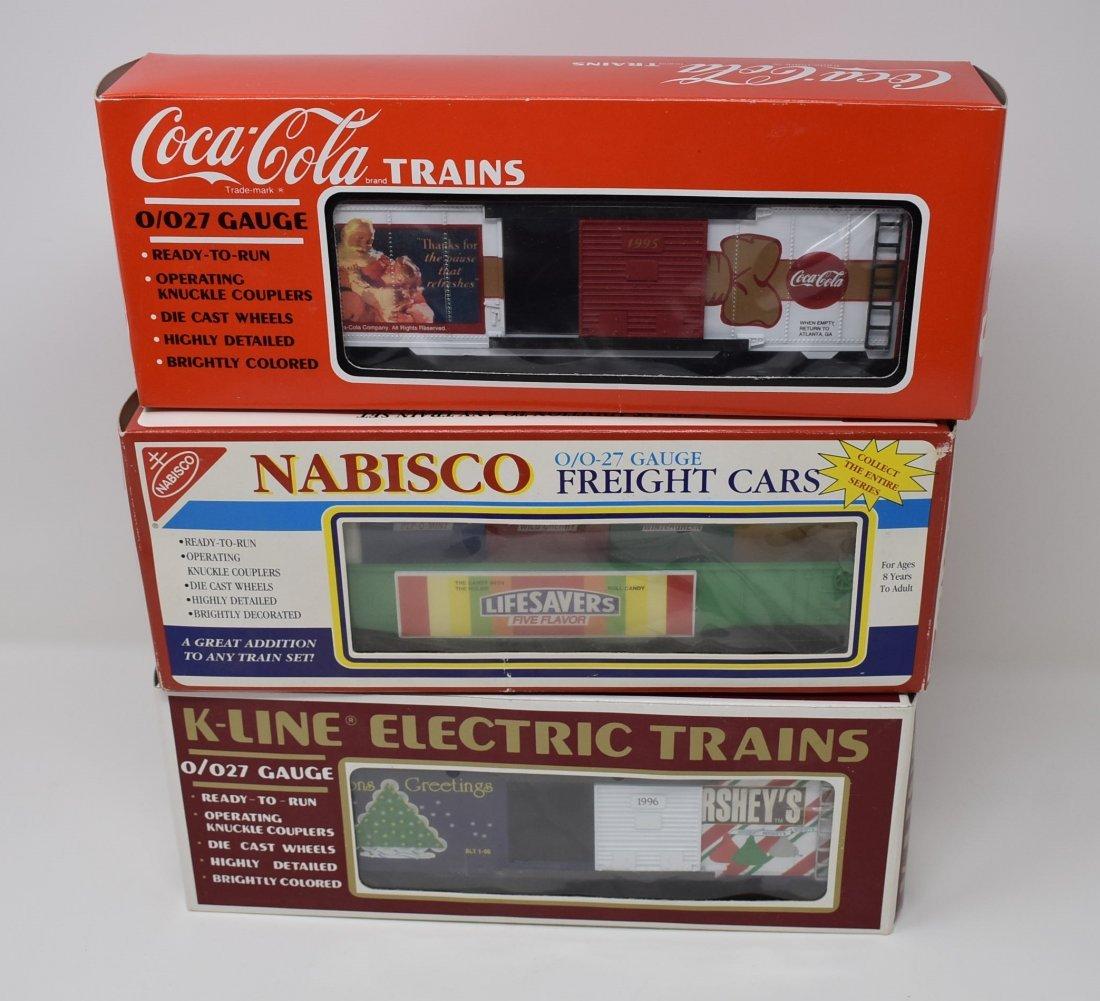 3 K-Line Train Cars Hershey