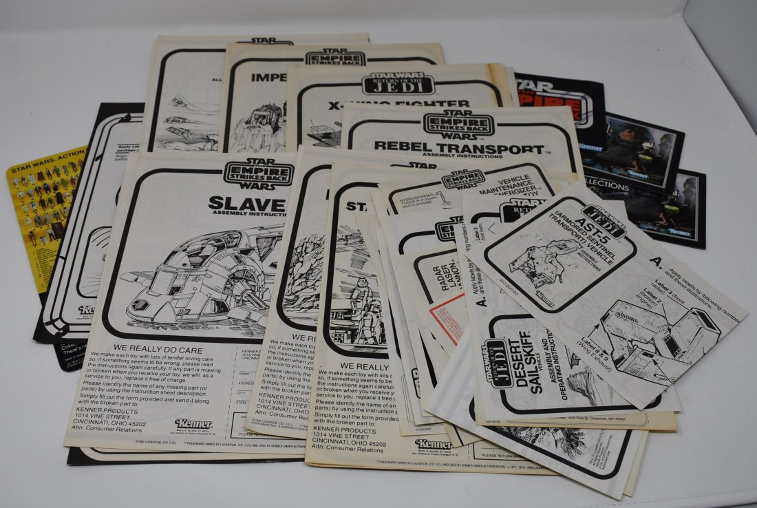 Vintage Star Wars Instructions 40+ Collection some RARE