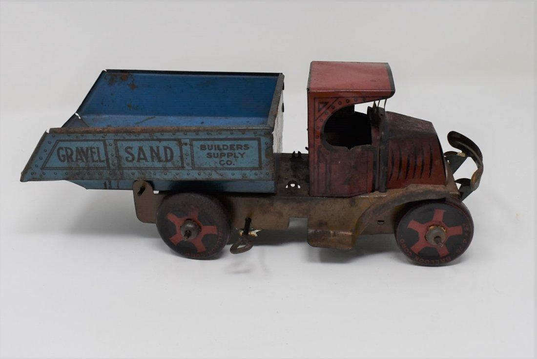 Vintage Marx Tin Builders Supply Gravel Truck