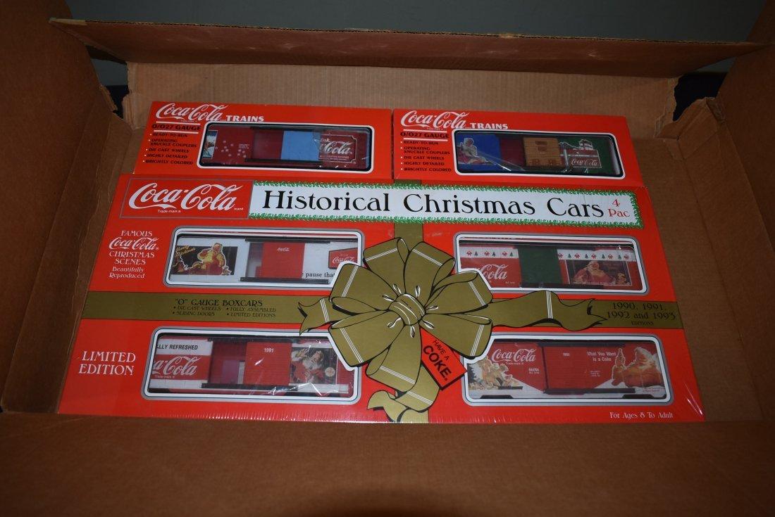 K-Line Coca Cola Historical Christmas Cars Train Set