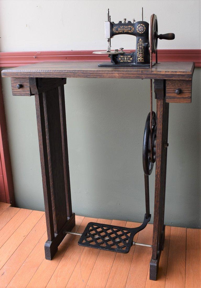 Child's Stitchwell treadle Sewing Machine in Oak