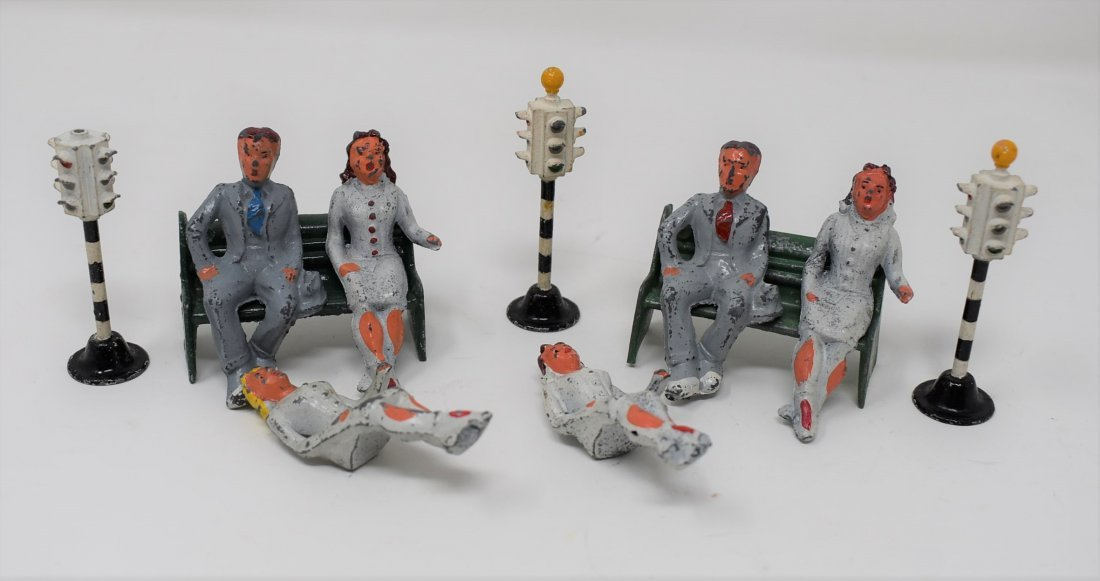 Group of Meccano Dinky Figures