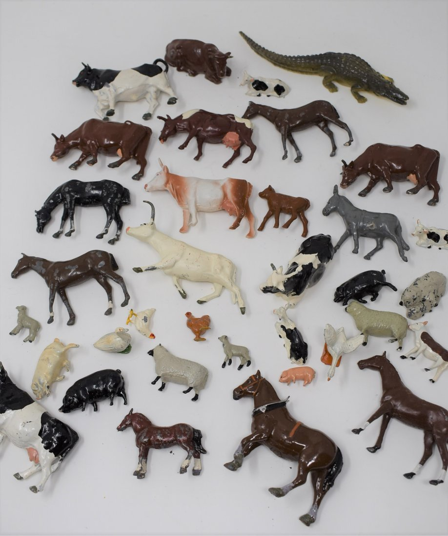 Group of Metal Britains Farm Animals