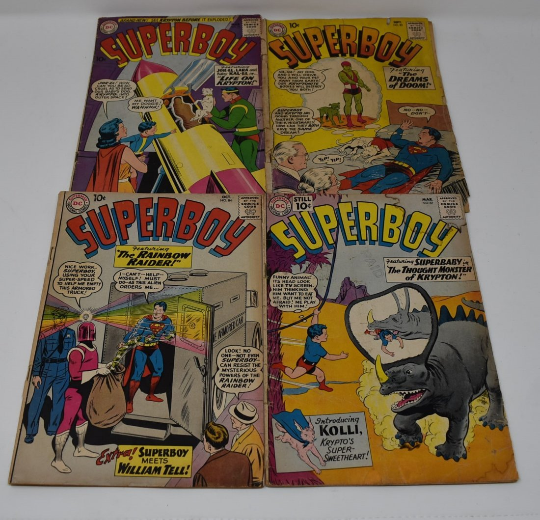 Superboy #79, #83 (1st Kryptonite Kid) #84, #87