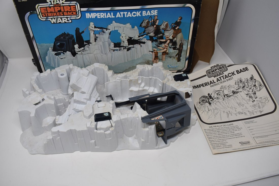 Star Wars Imperial Attack Base Complete Box Instruction