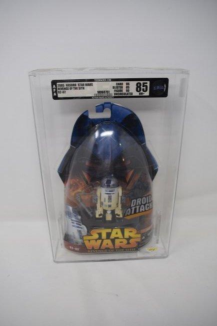 Star Wars ROTS R2-D2 AFA Graded 85 NM+ 2005 Hasbro