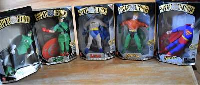 Group of 5 Hasbro DC Comics Silver Age Figures
