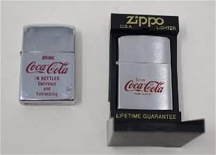 Pair of Coca-Cola Lighters Zippo