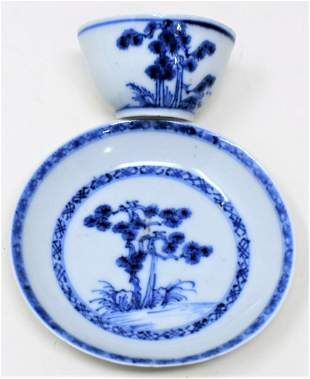 Nanking Cargo Qianlong Teabowl & Saucer circa 1752