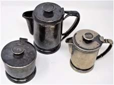 NYC New York Central Railroad Dining Car Silver tea set