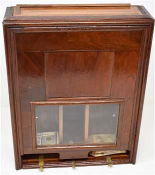 Vintage Wooden Cigerette Pack Despenser Device