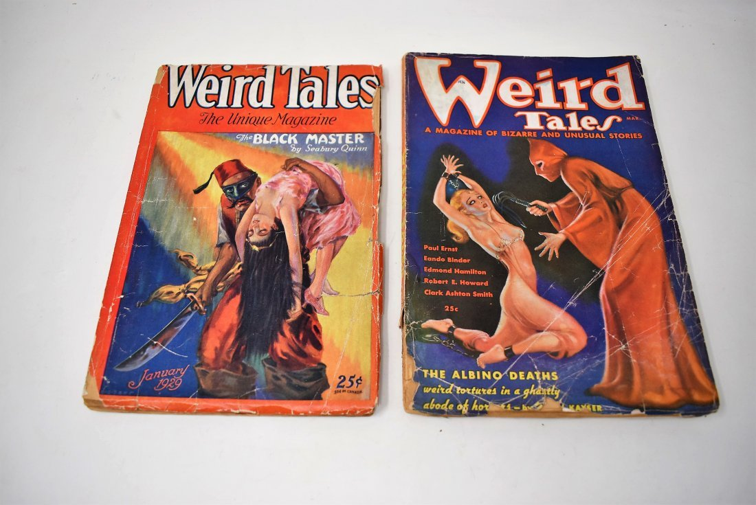 Lot of 2 Weird Tales Magazines Books 1929 & 1936