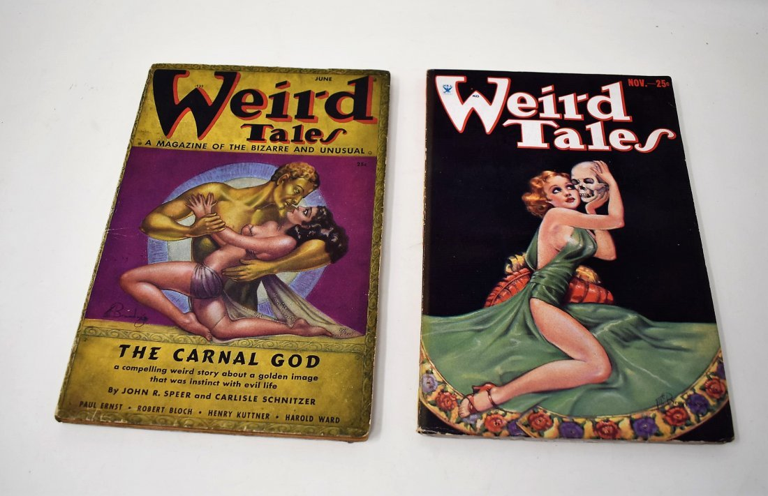 Lot of 2 Weird Tales Magazines Books 1933 & 1937
