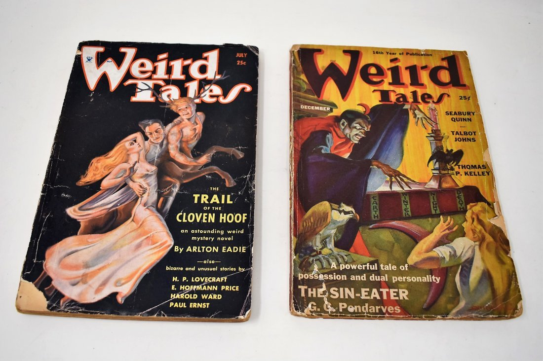 Lot of 2 Weird Tales Magazines Books 1934 & 1938