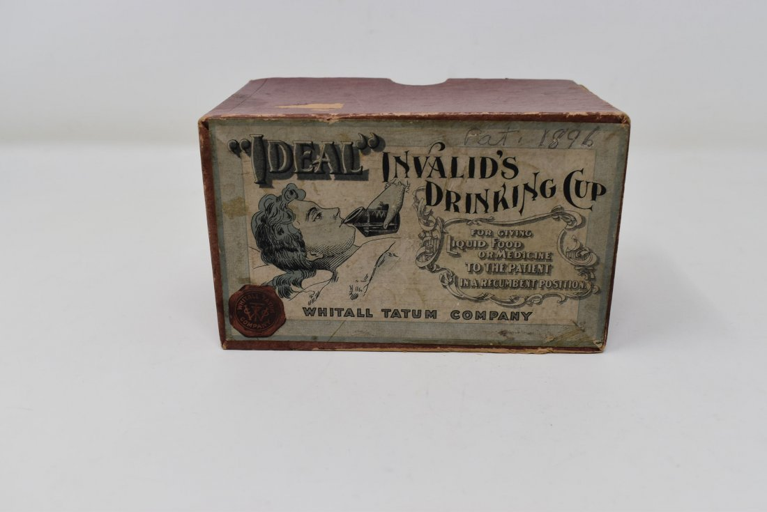 """Antique Whitall Tatum """"Ideal"""" Invalid's Drinking Cup"""