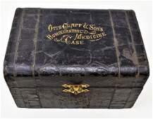 Otis Clapp & Son's Homeopathic medicine Case w/ Bottles