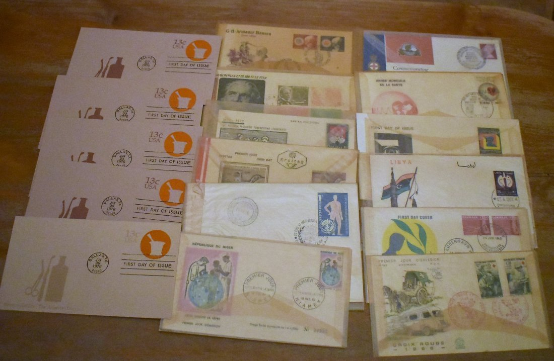 Group of Vintage Medical First Day Covers