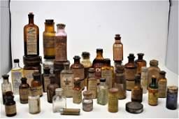 lot of Antique & Vintage Medicine & Apothacary Bottles