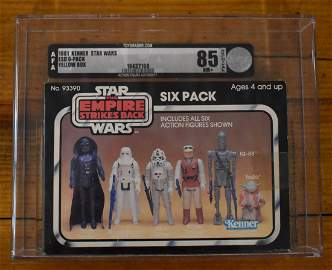 1981 Star Wars ESB 6-Pack Yellow Box AFA Graded 85 NM+