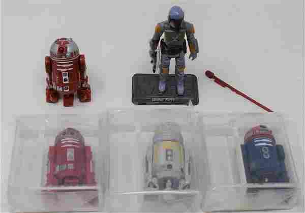 Star Wars Lot of Droids & 2010 Rocket Firing Boba Fett