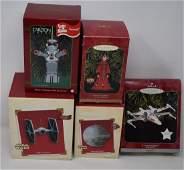 5 Hallmark Star Wars & Carlton Lost in Space Ornaments