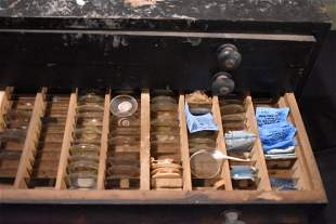 Watchmakers Cabinet full of Watch/Pocket Watch Crystals