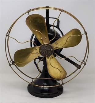 General Electric Brass Blade Alternating Current Fan