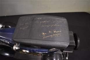 Jim Beam Antique Police Car Bottle signed by Jane Byrne