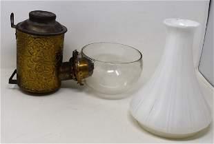 Antique Angle mfg Co. Brass Wall Lantern