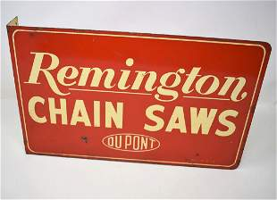 Vintage Remington Chainsaws 2-Sided Flange Sign