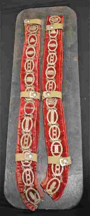 Vintage Odd Fellows Sash Masons w Medallions