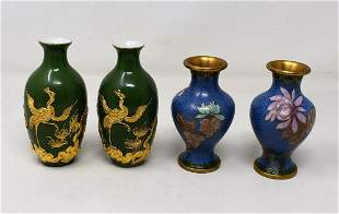 Group of 4 Small Asian Vases