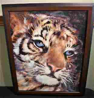 "Stephen Fishwick LE Giclee on Canvas ""Cub"" COA"
