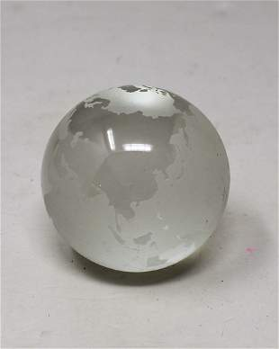 Tiffany & Co. Globe Advertising Paperweight