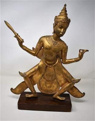 India Sculpture Gold Metal