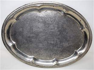 Vintage Ranier Beer Silver Plate Beer Tray