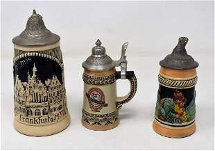 Group of 3 Mini Beer Steins