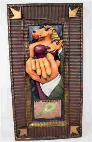 """Markus Pierson Sculpture Wall Art """"The Wallflower"""""""