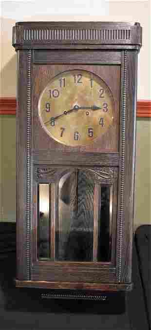 1902 Gustav Becker Wall Clock