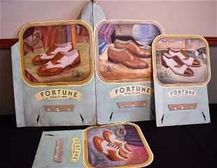 Vintage Fortune Men's Shoes Advertising Display