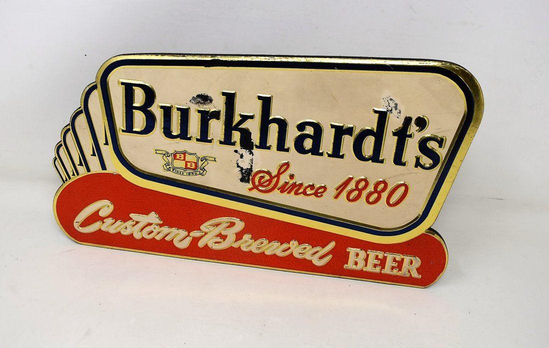 Vintage Burkhardt's Beer Counter Advertising Sign