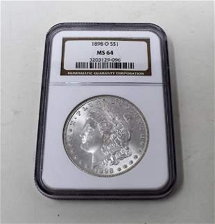 1898-O Morgan Silver Dollar NGC MS69