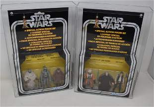 2- 2011 Star Wars 3-pack European Box AFA 90