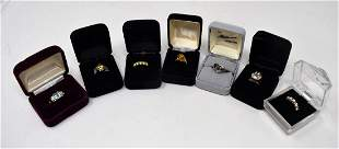 Lot of 7 Sterling Silver HSN Rings