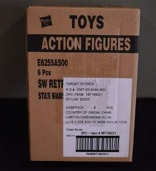 Star Wars Retro Collection 6 Pc Sealed Box Case Kenner