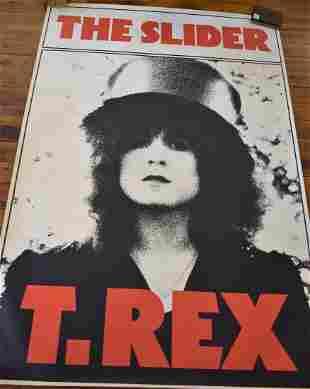 Vintage T. Rex Mark Bolan Poster Large