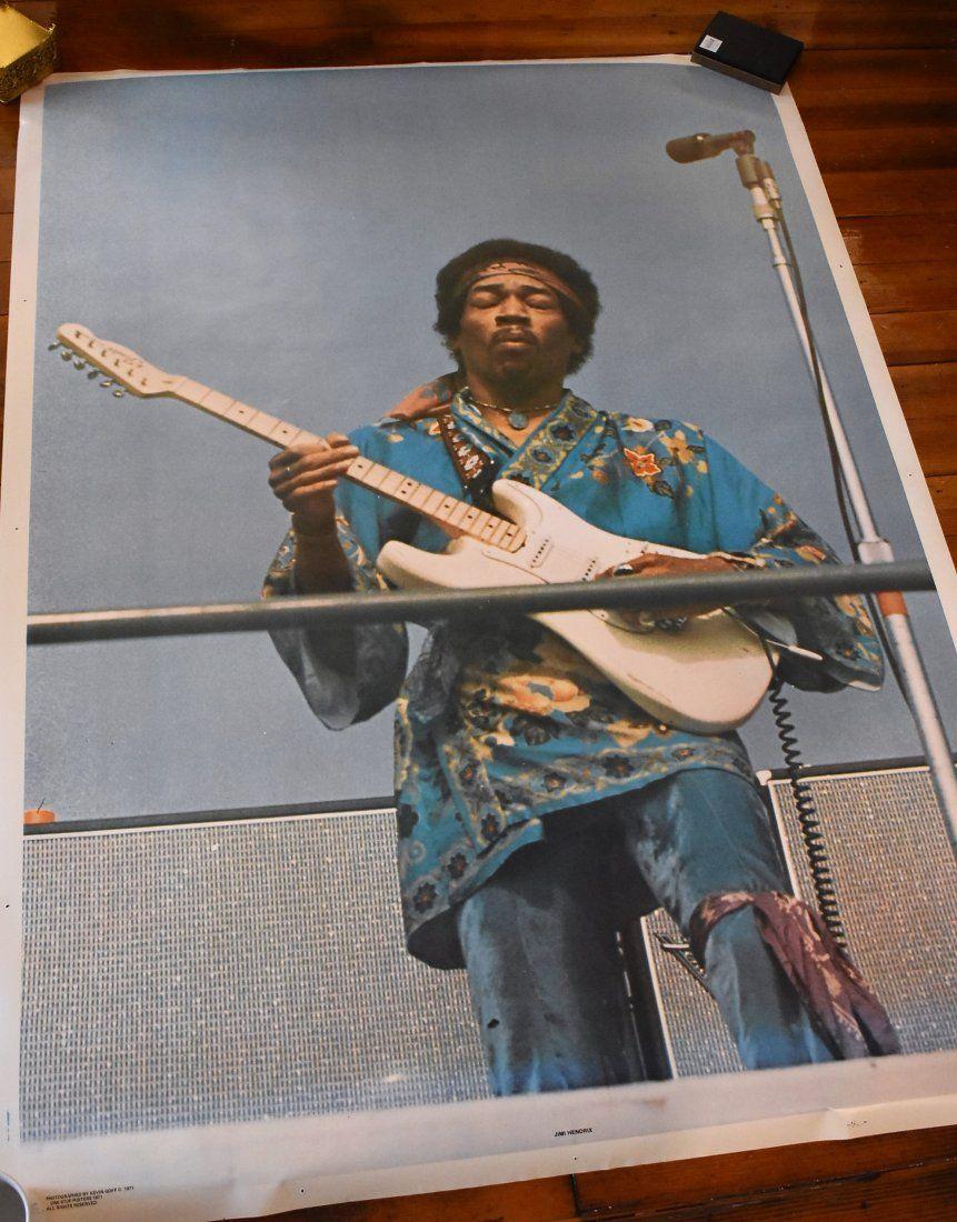 Vintage 1971 Jimi Hendrix Poster Large