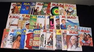 Lot of 34 Vintage 1960 & 1970s Mad Magazines
