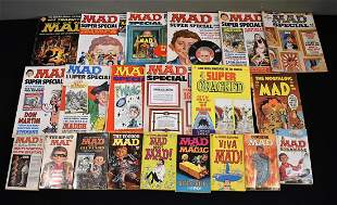Lot of 20 Vintage Mad Magazine and Books