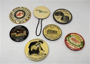 Lot of 7 Vintage Advertising Mirrors